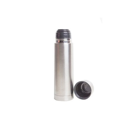 Stainless Steel Thermos Vacuum Flask Silver