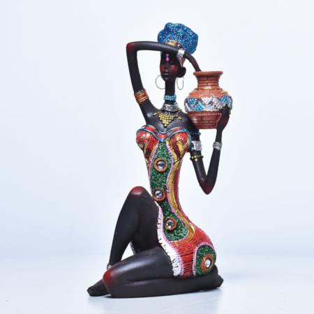 Statue Sitting Woman