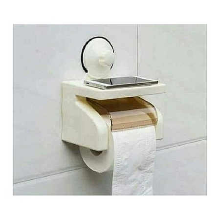 Tissue Holder Sunction- Cream white