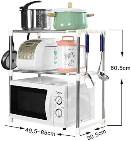 Strong And Steady Microwave Multifunction Shelf