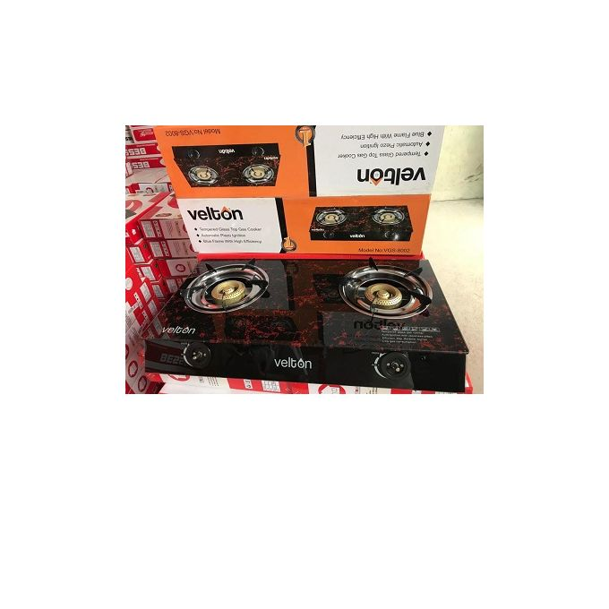 Velton 2 burner Glass table Gas Cooker
