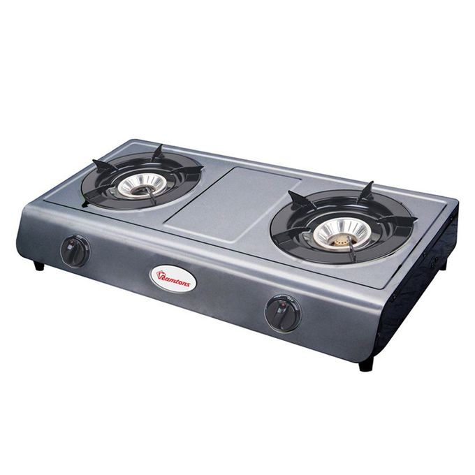 Ramtons 2 Burner Gas Cooker S/S Burner