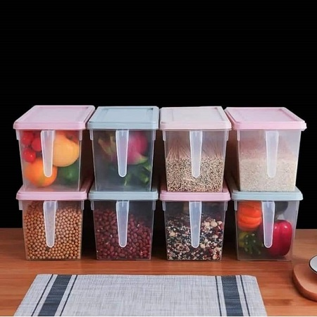 Airtight Fridge Food Storage Organizer Rice Cereal Container