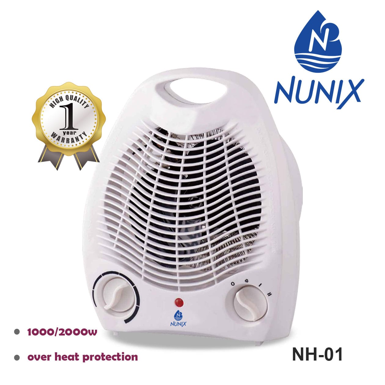 Nunix Portable Fan Room Heater- Perfect For Cold Seasons
