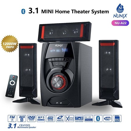 Nunix 3-1 MINI Home Theater System-sub Woofers Radio USB