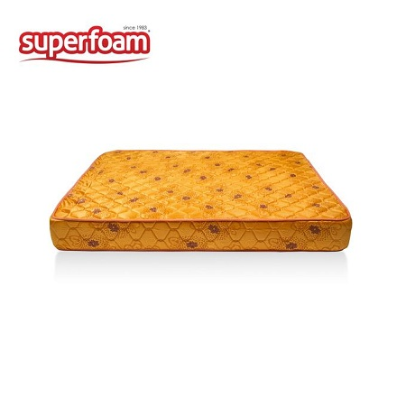 Superfoam Foam Mattress - Yellow 6 x 6 x 6