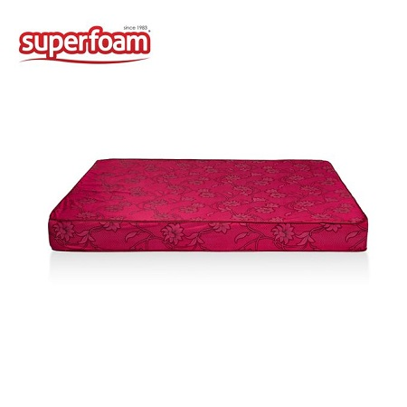 Superfoam High Density Plain Foam Mattress - MAROON 6 x 6 x 6