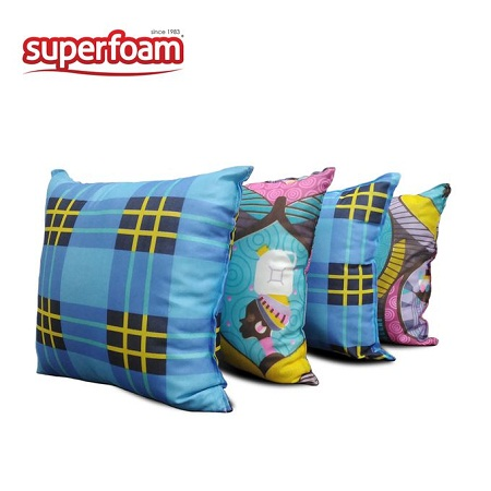 Superfoam Superfoam Square throw pillows, 16 x 16 inches, Set of 4 pieces