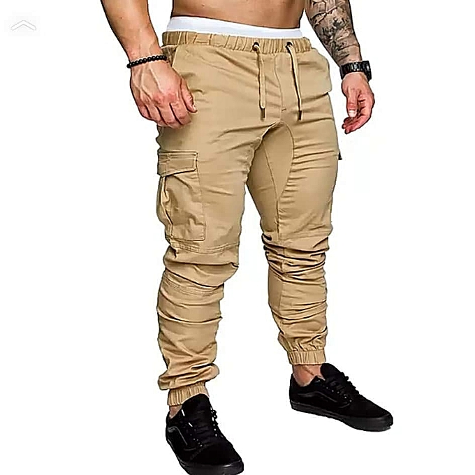Generic Brown Men's Cargo Pant-Stylish Pocketed