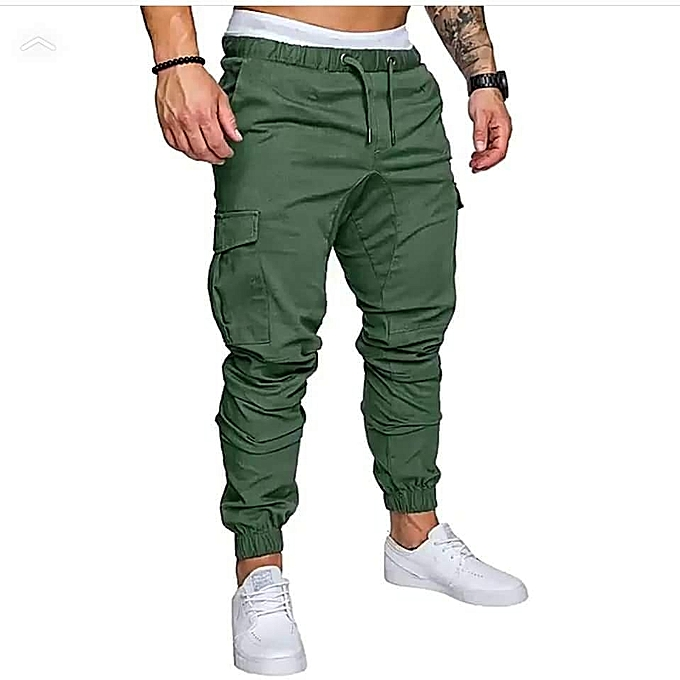 Generic Jungle Green Men's Cargo Pant-Stylish Pocketed