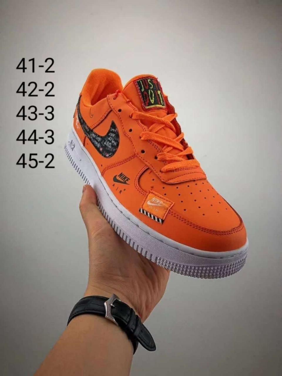 Orange nikey sneakers