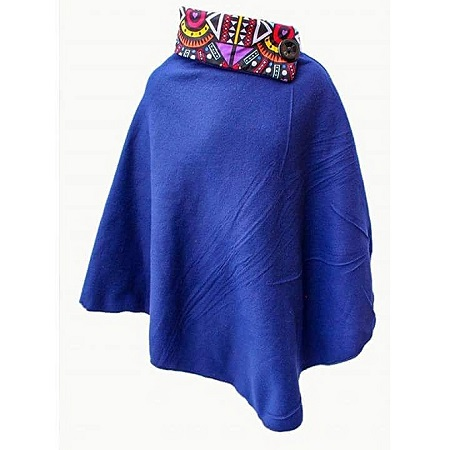 Blue All Weather Ladies Fleece Poncho