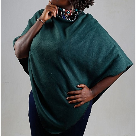 Jungle Green All Weather Ladies Fleece Poncho