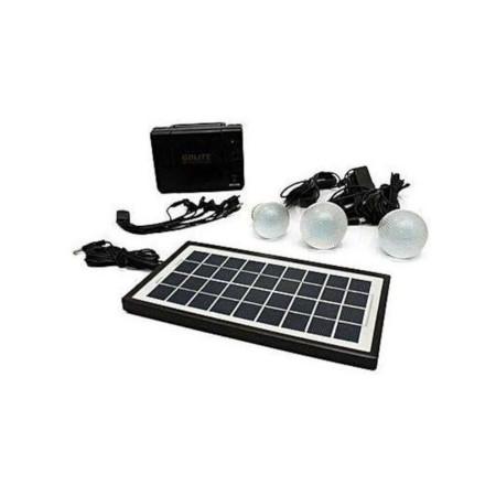 Kamisafe Solar Panel, LED Lights And Phone Charging Kit
