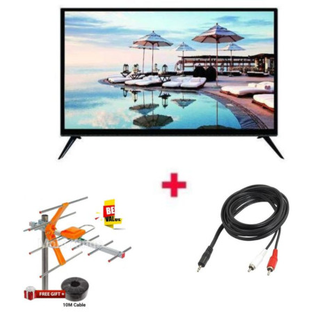 Royal 22 Inch Digital HD LED TV +Free TV Aerial + Audio Cable