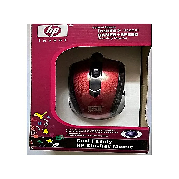 HP Blu-Ray USB wired Optical mouse