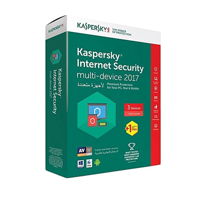 Kaspersky Internet Security 2017, 3 User + 1 Free