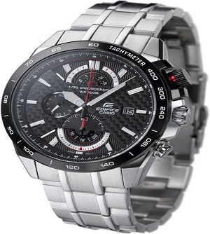 Casio Silver Black Chronograph Watch EFR 520 1AV