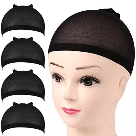 6pcs wig caps stocking-Black