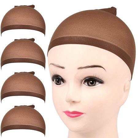 6pcs wig caps stocking-Brown
