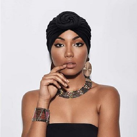 100% cotton turban headscarf head wrap bonnet cap