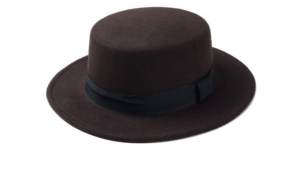Fedora hat sun hat flat top hat jazz hat cap
