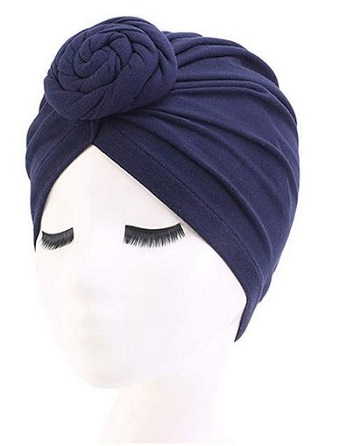 100% cotton turban headscarf head wrap bonnet cap