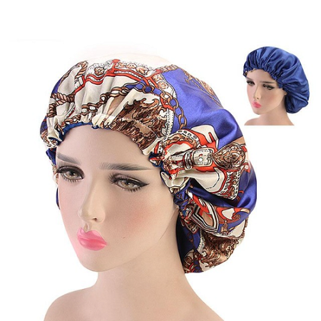 Quality Satin Bonnet sleeping cap double layered and adjustable