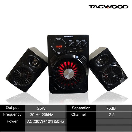 TAGWOOD LS-421A Multimedia Speaker System With Bluetooth - Black