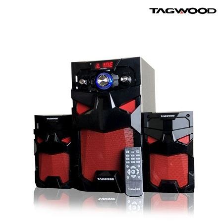 TAGWOOD LS-521A Multimedia Subwoofer Speaker System 2.1 with MP3, Bluetooth,FM Radio Black 8800W