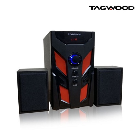 TAGWOOD LS-521B Multimedia Subwoofer Speaker System 2.1 with MP3, Bluetooth,FM Radio Black 5800W