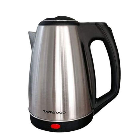 TAGWOOD TG2019 - Electric Stainless Kettle - 1.8 Litres - Black.