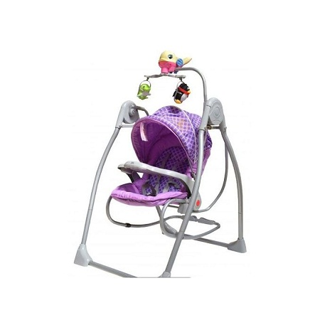 2in1 Detachable Baby Swing & Baby Rocker with Overhead Playtoys