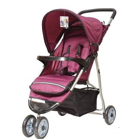 3 wheeler baby Stroller/ Foldable Pram With Universal Casters