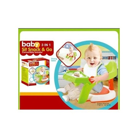 3 in 1 Baby Sit Snack and Go Booster Seat/ Feeding Seat