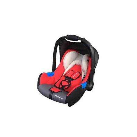 Infant Baby Car Seat/ Carry Cot - black and red with head cushion( big)