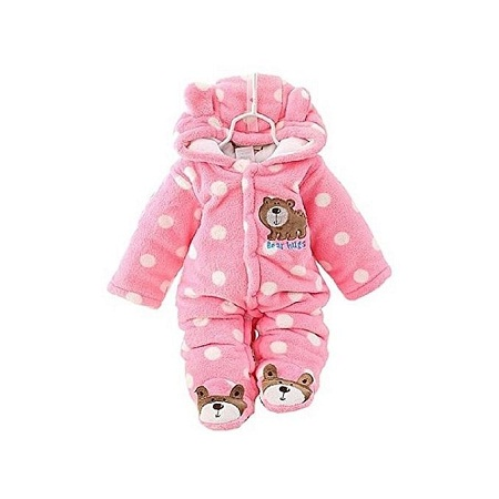 Baby Winter Jumpsuit / Romper-pink