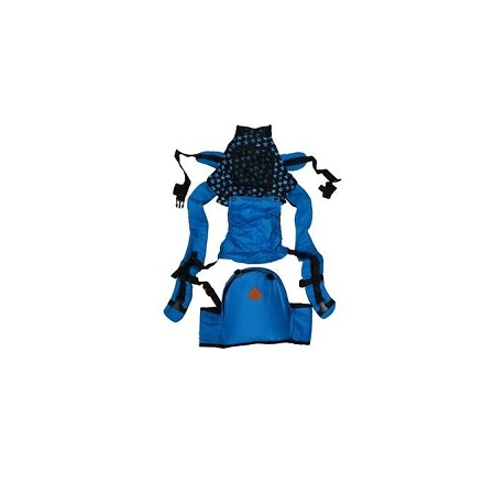 Breathable Hipseat Baby Carrier with a Hood - Blue
