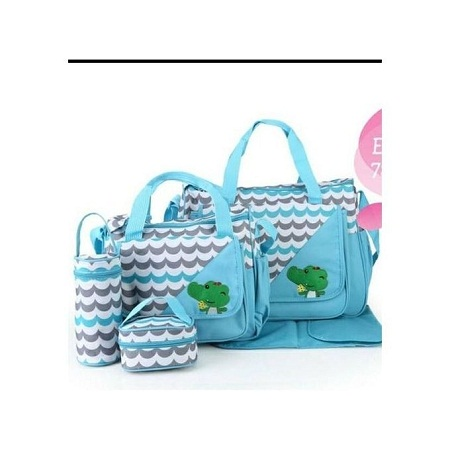 Cute new design 5in1 Diaper Bag Nappy Changing Pad waterproof Travel Bag