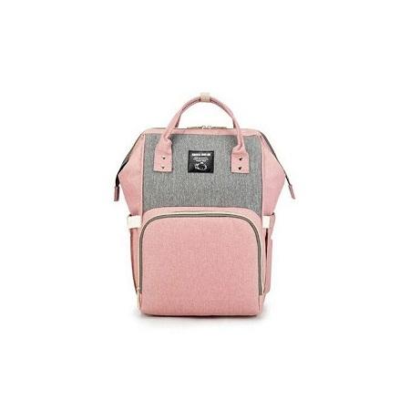 Diaper Bag -Pink & Grey