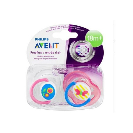 Freeflow Pacifier 18m+, Pink, 2 pack-very hygienic