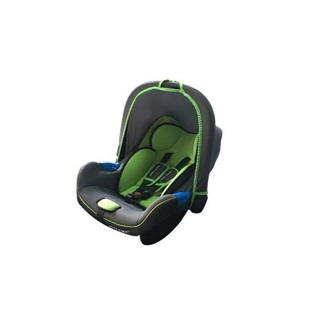 Infant Baby Car Seat/ Carry Cot - Green/Grey with head cushion (big)