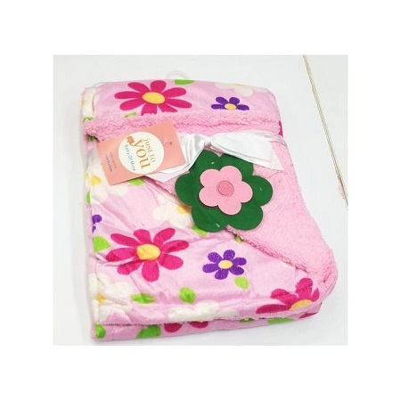 Just To You Super Soft Baby Double Layer Receiving Blanket / Shawl