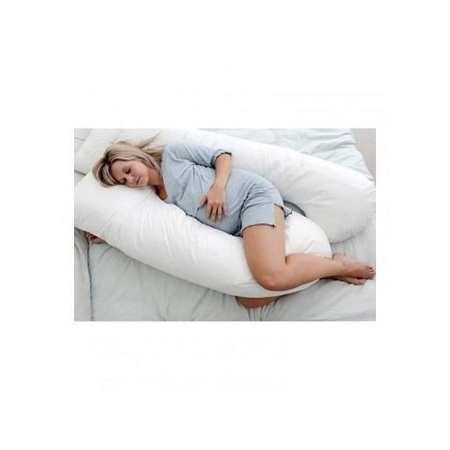 Maternity Back & Belly Contoured Body Pillow with Washable Cover
