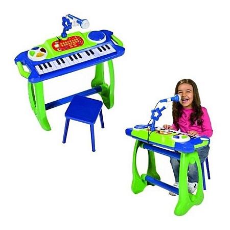 My Music World Keyboard/Piano with Stool