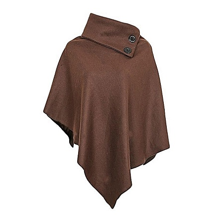 Chocolate Brown All Weather Ladies Fleece Poncho