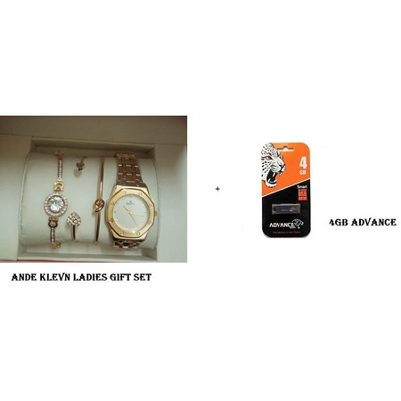 Advance 4GB Flash Disk And Watch Gift Set
