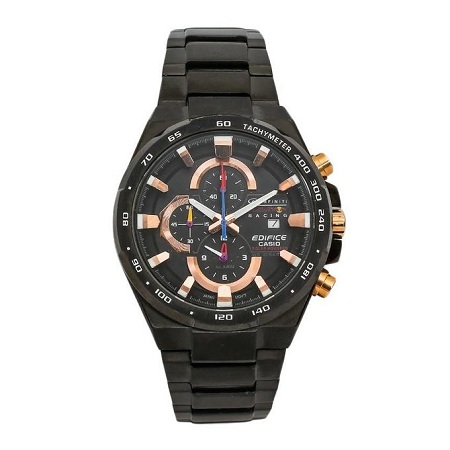 Casio Black Men's Watch With Stainless Steel Straps And Black Face