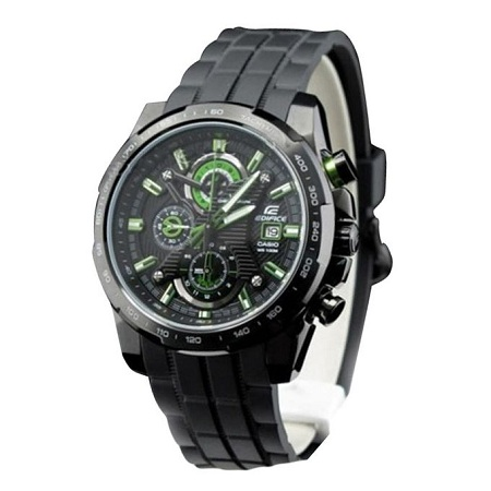 Casio Black and Green With Resin Band Watch