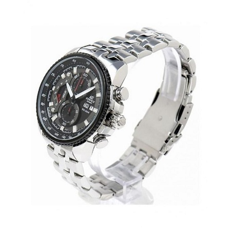 Casio Silver Chronograph Watch With Silver Stainless Steel Straps